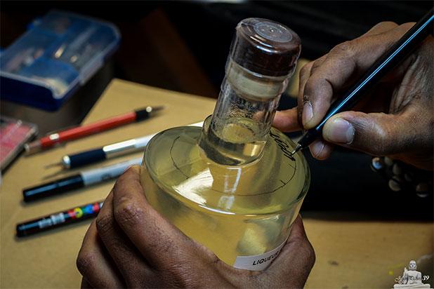 Gravure sur bouteille personnalisée
