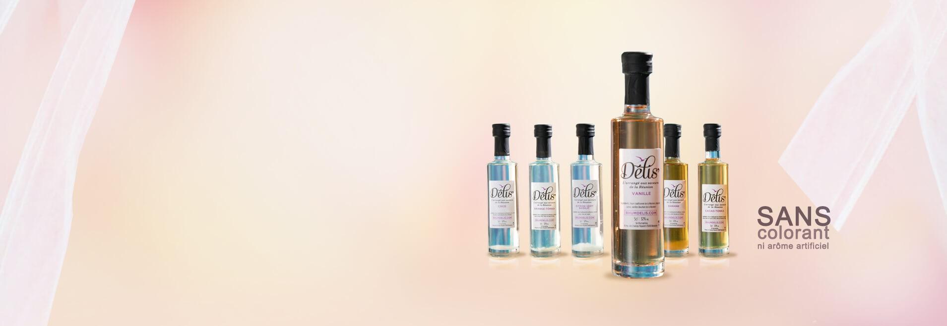 Mignonnettes de rhum arrangés en assortiment de 6 parfums