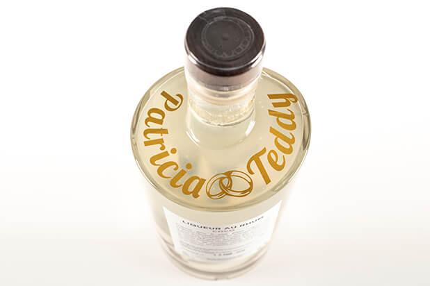 Personnalisation sur bouteille Rhum Délis