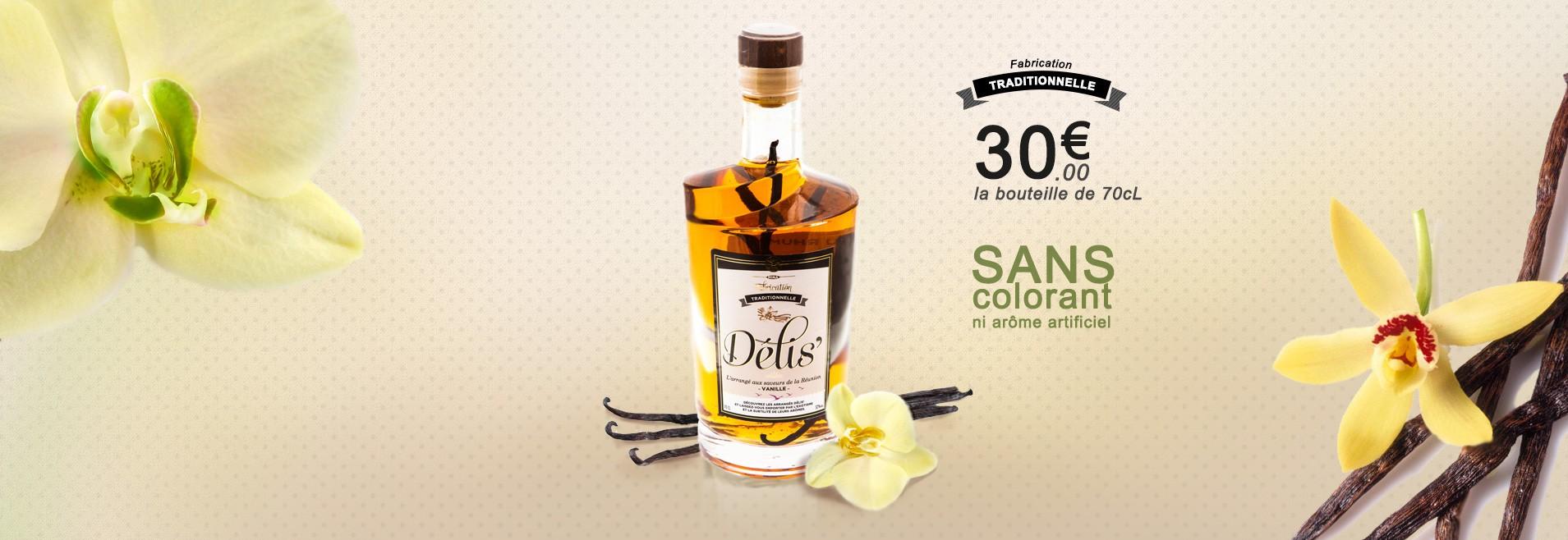 Vanille Bourbon : le Rhum arrangé à la vanille Bourbon
